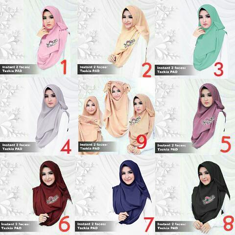 Hijab Instant 2faces Tazkia PAD