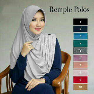 Jilbab Instant Remple Polos