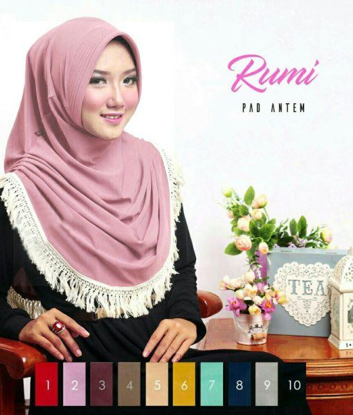 HijabJilbab Instant Rumi Pad Antem