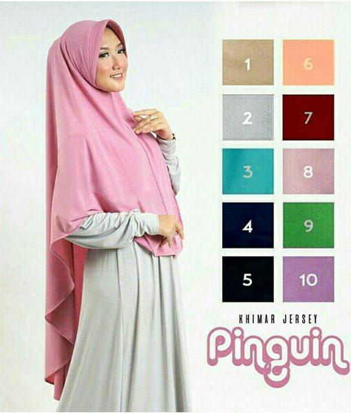 Hijab Khimar Pinguin Pad
