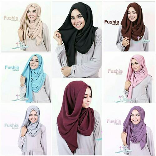 HijabJilbab Instant Fushia