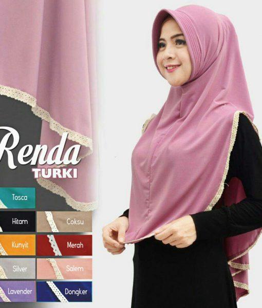 Hijab Renda Turki Pad Antem