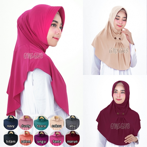 Hijab Bergo Syifa Kancing