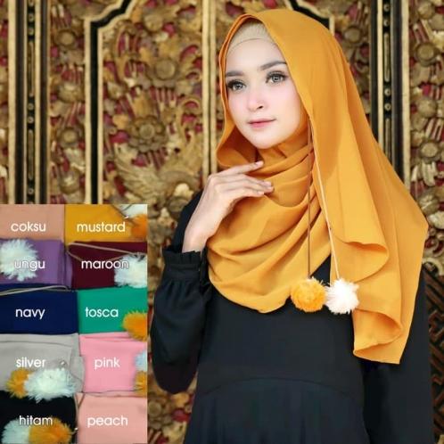 Hijab Instan Pompom