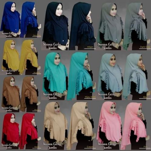 Hijab Savana Curly Jumbo- Safa Jumbo
