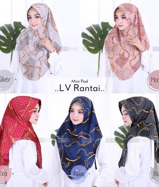 Hijab Minipad LV Rantai