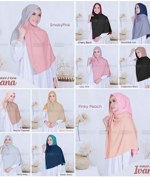 Hijab Instant 2-Tone Ivana