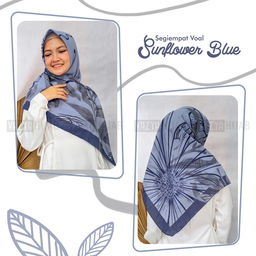 Segiempat Voal Sunflower Blue