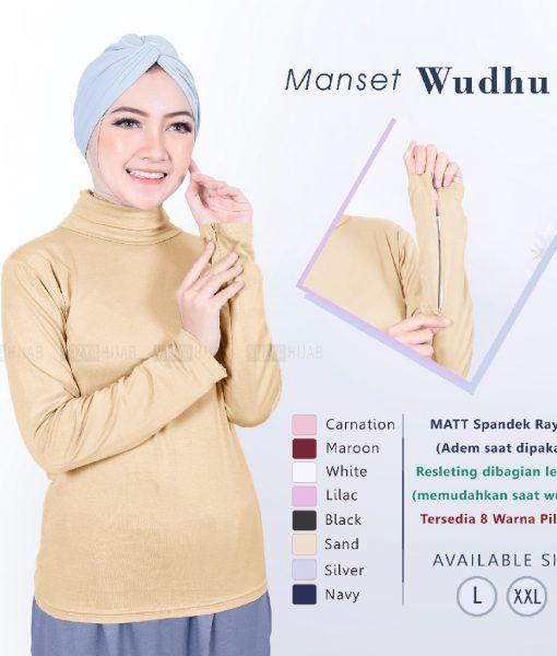 Kaos Manset Wudhu Size L & XL
