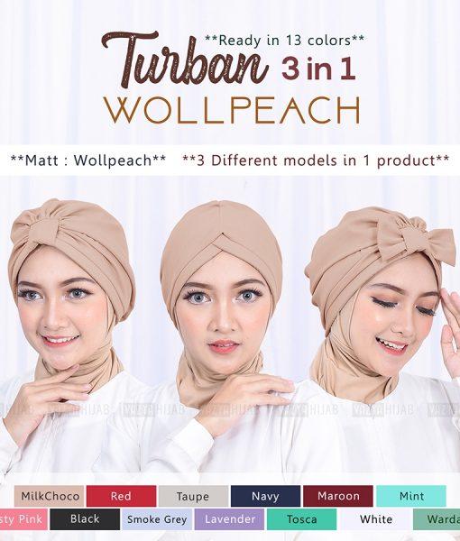 Turban Wollpeach – Wolfis 3in1
