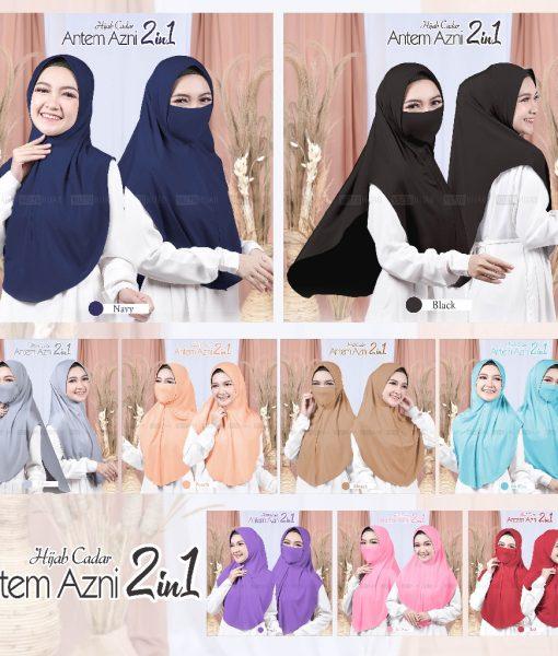 Hijab Cadar Antem Azni 2in1