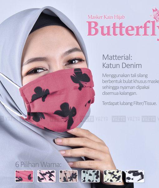 Masker Kain Hijab Butterfly