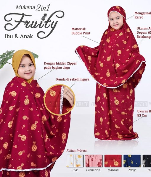 Mukena Fruity 2in1 Anak