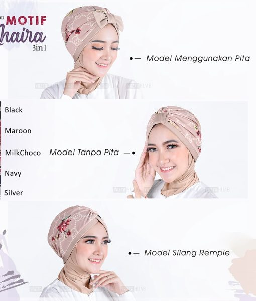 Turban Khaira Motif 3in1