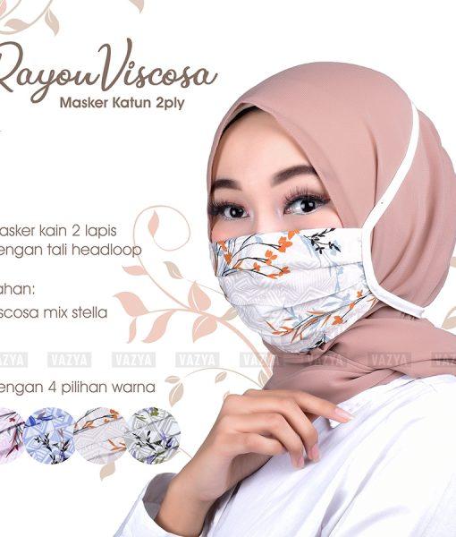 Masker Katun Rayon Viscosa 2ply Headloop