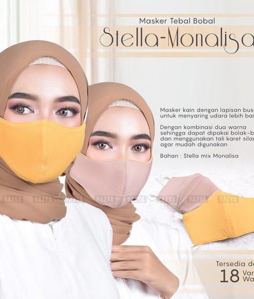 Masker Tebal 3 Ply Stella Monalisa Polos