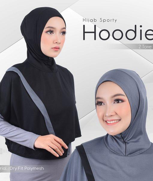 Hijab Sporty Hoodie Dryfit 2 Tone