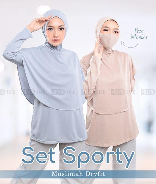 Baju Sporty Muslimah Dryfit