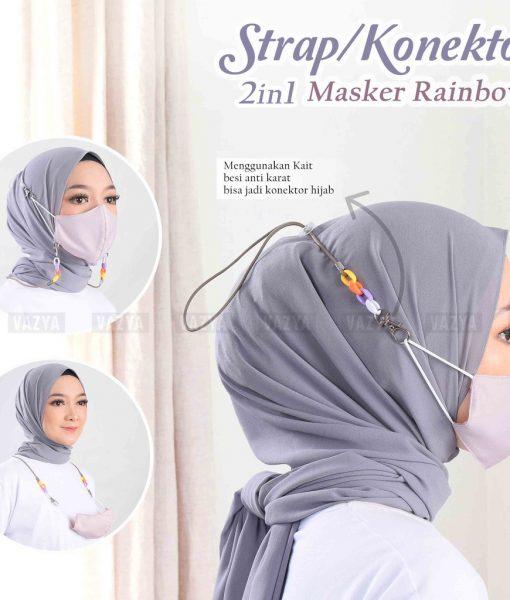 Strap Konektor Masker 2in1 Rainbow